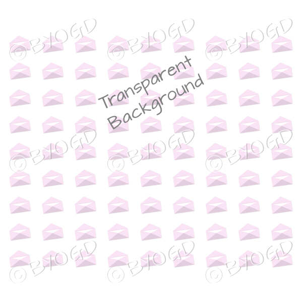 Pink mini envelope background on clear