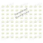 Pale green mini envelope background on clear