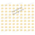 Orange mini envelope background on clear