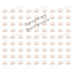 Brown mini envelope background on clear