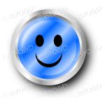 A blue smiley face button.