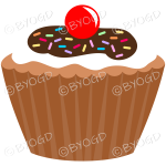 Add a chocolate brown cupcake or muffin to your desk.