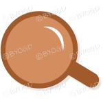 Coffee/tea in a brown mug - Top view
