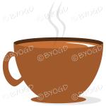 Coffee/tea in a brown mug/cup - Side view