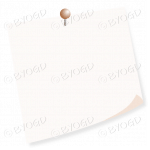 Pale brown (cream) pinned post-it note - add your own message!