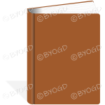Plain brown 3D book - add your own title