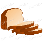 A loaf of bread, sliced and ready to use