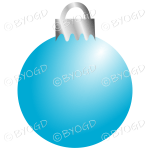 Light blue Christmas bauble decoration for your branding.