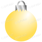 Yellow Christmas bauble decoration for your branding