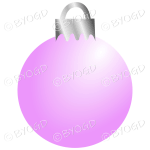 Pink Christmas bauble decoration for your branding