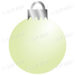 Light green Christmas bauble decoration for your branding