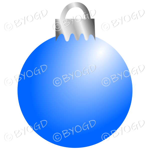 Blue Christmas bauble decoration for your branding