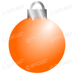 Orange Christmas bauble decoration for your branding