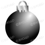 Black Christmas bauble decoration for your branding