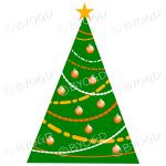 Designer Christmas tree with orange decorations