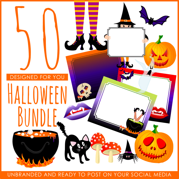 50 Halloween Image Bundle