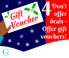 Don't offer deals – offer gift vouchers!