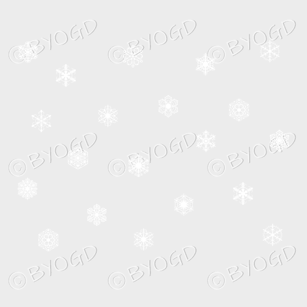 White snowflake G wallpaper – beautifully detailed on a clear background