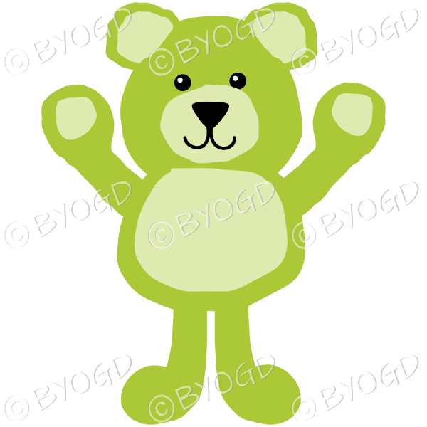 fae4855ff31e2 Green teddy bear with arms up for a hug! ⋆ Be Your Own Graphic Designer