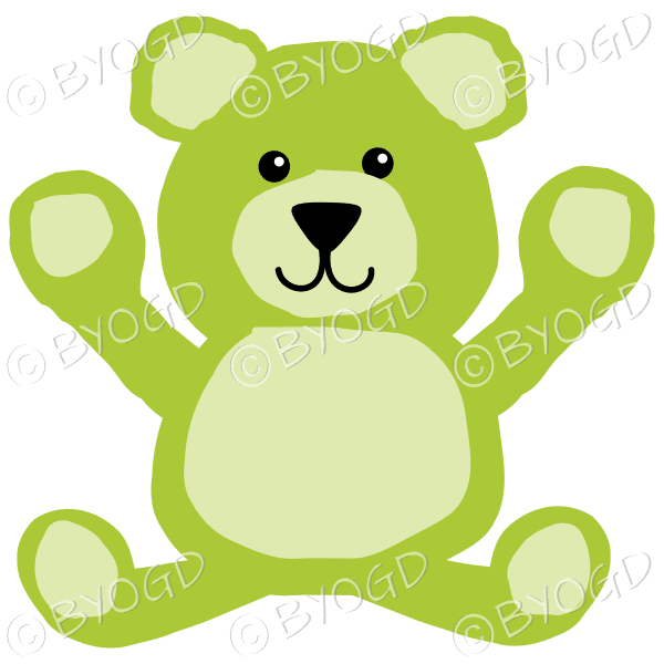 c7b48ea870df5 Green teddy bear sitting down and looking cute! ⋆ Be Your Own ...