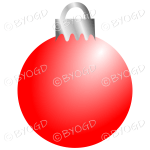 Red Christmas bauble decoration for your branding