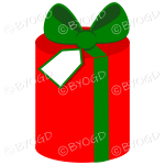 Red and green gift box perfect for Christmas.