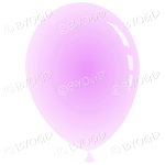 Pale Pink party balloon.