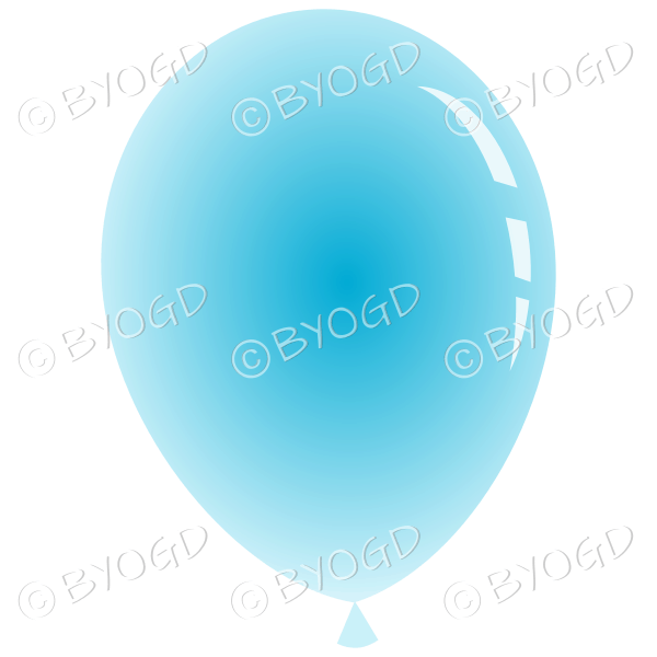Light Blue party balloon.