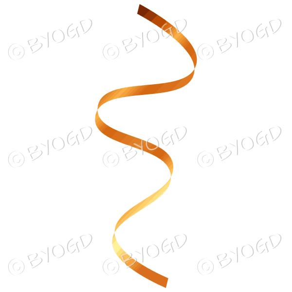Gold flowing party streamer decoration.