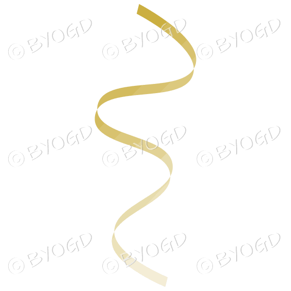 Pale Gold flowing party streamer decoration.