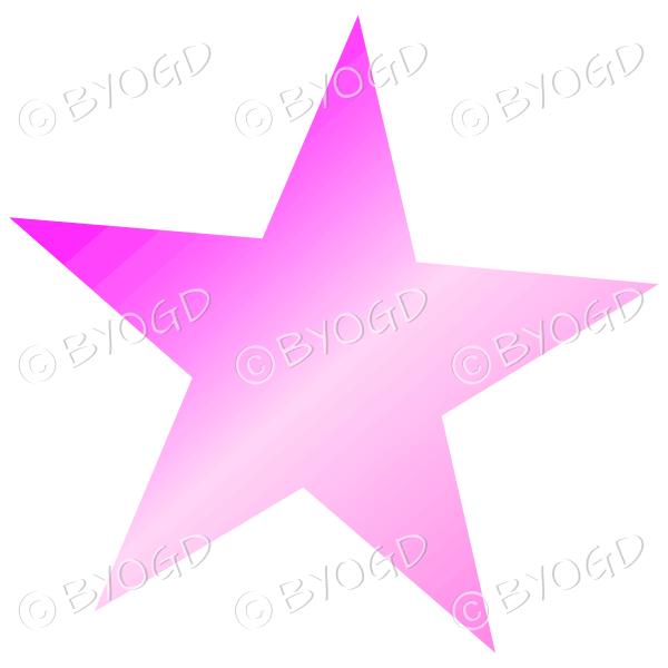 Pink shiny light reflective star.