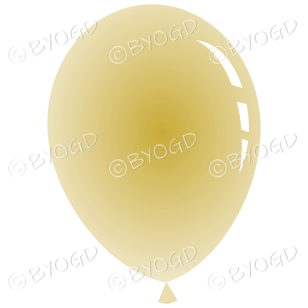 Pale gold party balloon