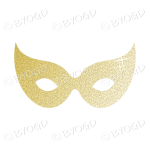 Pale gold Glitter effect Party Mask.