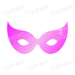 Pink Glitter effect Party Mask.