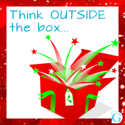 Think outside the box to promote Christmas