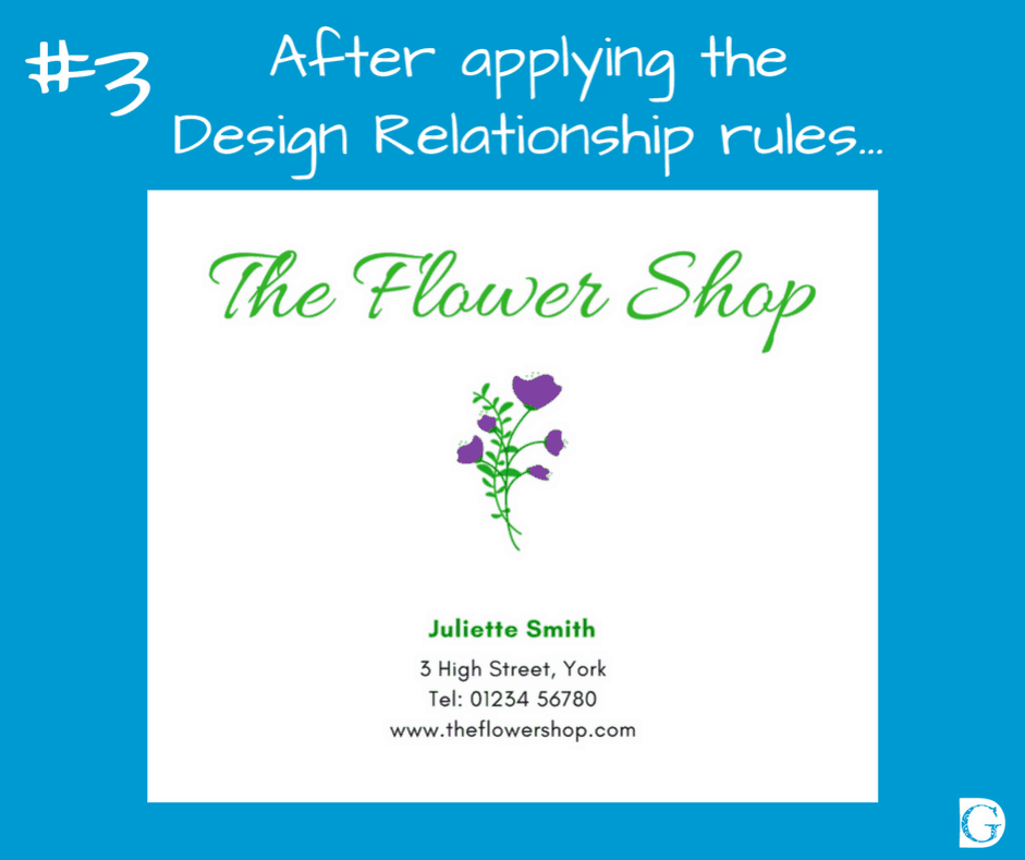#3 After applying the Design Relationships rules