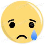Facebook Emoji Sad Crying button