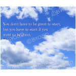 "Quote image 1: ""You don't have to be great"