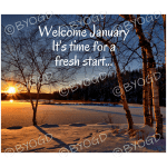 "Quote image 3: ""Welcome January. It's time"
