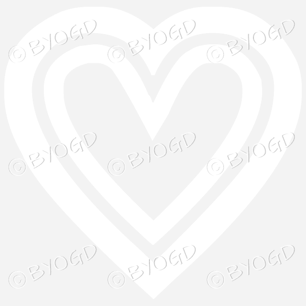 White double heart icon sticker