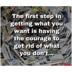 Quote image 23: The first step in getting what you want