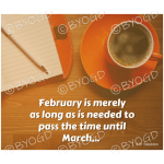 Quote image 28: February is merely as long as is