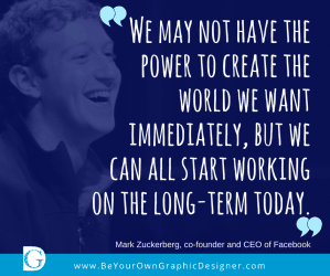 Mark Zuckerberg Quote as a Social Media Image