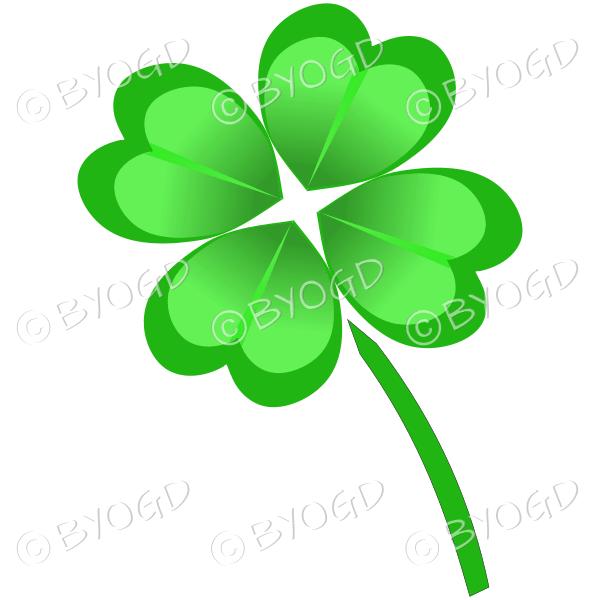 Irish Shamrock lucky 4 leaf clover