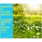 Quote image 47: Springtime is the land awakening