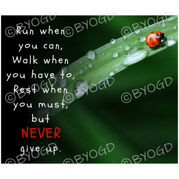 Quote image 50: Run when you can, Walk when you