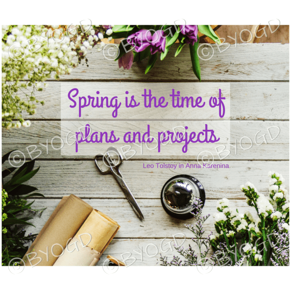 Quote image 58: Spring is the time of plans and projects
