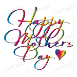 Happy Mother's Day - Rainbow script