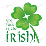 The Luck of the Irish with 4-leaf clover/shamrock