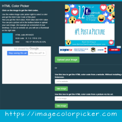 Hex code picker to help you Echo your brand colours